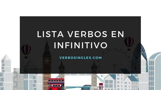 lista verbos infinitivo