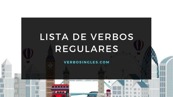 lista verbos regulares